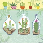 Farida Zaman - Cacti Garden I no Birds and Butterflies