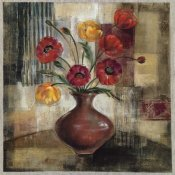 Silvia Vassileva - Poppies in a Copper Vase I