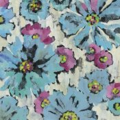 Silvia Vassileva - Graphic Pink and Blue Floral I