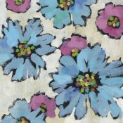 Silvia Vassileva - Graphic Pink and Blue Floral II