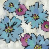 Silvia Vassileva - Graphic Pink and Blue Floral III