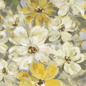 Silvia Vassileva - Scattered Spring Petals Yellow Gray Crop