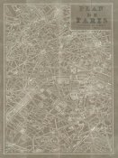 Sue Schlabach - Blueprint Map Paris Taupe