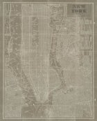 Sue Schlabach - Blueprint Map New York Taupe