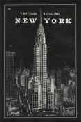 Sue Schlabach - Blueprint Map New York Chrysler Building Black