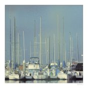 Sue Schlabach - Harbor Boats Blue Sky