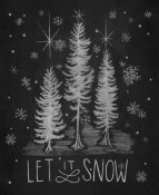 Mary Urban - Chalkboard Holiday Trees I