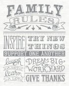 Mary Urban - Family Rules II Gray Words