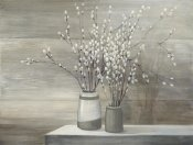 Julia Purinton - Pussy Willow Still Life Gray Pots