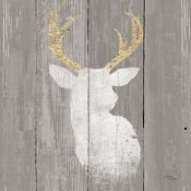 Wellington Studio - Precious Antlers II on Gray Wood