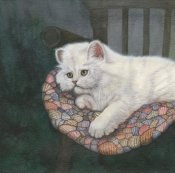 Jacquie Vaux - Kitten on Chair