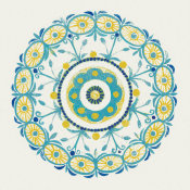 Kathrine Lovell - Lakai Circle I Blue and Yellow