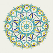 Kathrine Lovell - Lakai Circle V Blue and Yellow