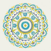 Kathrine Lovell - Lakai Circle VI Blue and Yellow