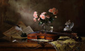 Andrey Morozov - Still Life With Violin And Roses