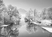 Frank Krahmer - Winter landscape at Loisach, Germany (BW)