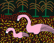 Ulrick Fox - Two Flamingos