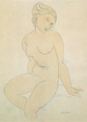 Amedeo Modigliani - Seated Female Nude