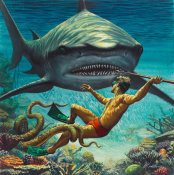Mort Kunstler - I Fought the Sea Killer