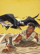 Mort Kunstler - Staked Out in the Desert