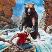 Mort Kunstler - Grizzly Trap