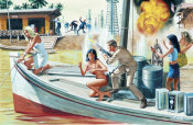 Mort Kunstler - Yank Skipper Who Led Sumatra's Riverboat Pirates