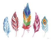 Farida Zaman - Rainbow Feathers IV