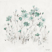 Lisa Audit - Wildflowers II Turquoise