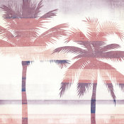 Michael Mullan - Beachscape Palms III Pink Purple