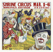 Hollywood Photo Archive - Shrine Circus - Clowns - 1935