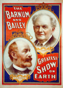 Hollywood Photo Archive - The Barnum & Bailey Greatest Show On Earth - Portraits Of P.T. Barnum and J.A. Bailey - 1897