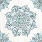 Anne Tavoletti - Mandala Morning V Blue and Gray