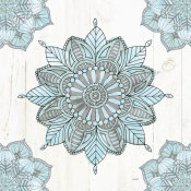 Anne Tavoletti - Mandala Morning VI Blue and Gray