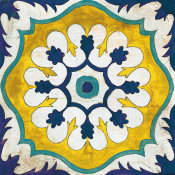 Silvia Vassileva - Andalucia Tiles C Blue and Yellow