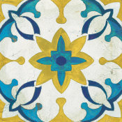 Silvia Vassileva - Andalucia Tiles D Blue and Yellow