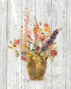 Cheri Blum - Wild Flowers in Vase I on Barn Board