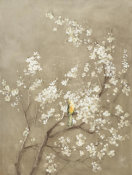Danhui Nai - White Cherry Blossom I Neutral Crop Bird