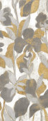 Silvia Vassileva - Painted Tropical Screen II Gray Gold Crop