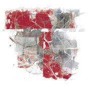 Mike Schick - Moving In and Out of Traffic II Red Grey
