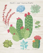 Wild Apple Portfolio - Succulent and Cacti Chart IV on Wood