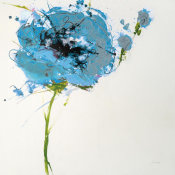 Jan Griggs - Turquoise Poppy Master on White