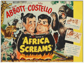 Hollywood Photo Archive - Abbott & Costello - Africa Screams Vertical