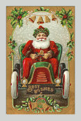 Hollywood Photo Archive - Santa Litho in Car - Best Wishes