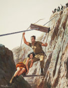 Mort Kunstler - Sgt. Gregory's Escape from Red Chinese Captivity