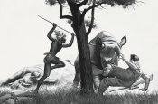 Mort Kunstler - Zulu Rescue From the Rhinos