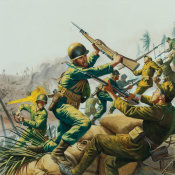 Mort Kunstler - The Fight for Saipan