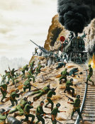 Mort Kunstler - Lucky Laycock's Raid That Won Salerno