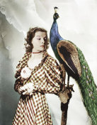 Hollywood Photo Archive - Katherine Hepburn with Peacock