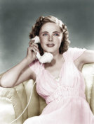 Hollywood Photo Archive - Kay Aldridge with Telephone