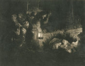Rembrandt van Rijn - The Adoration of the Shepherds: A Night Piece, 1657